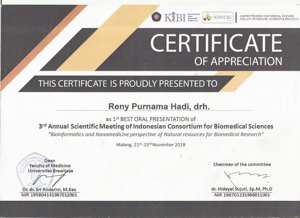sertifikat kibi reny