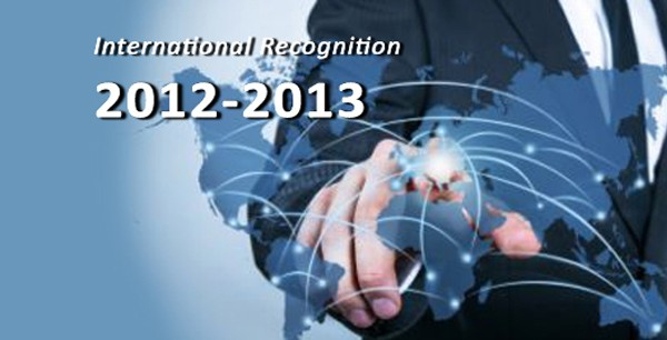International Recognition 2012-2013