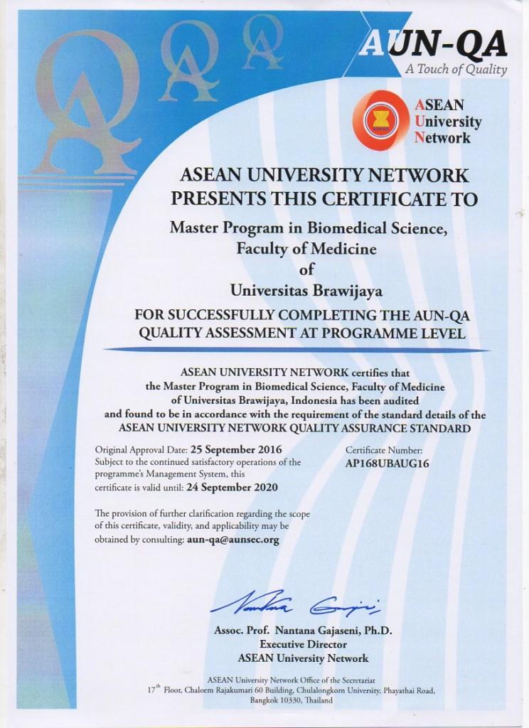 sertifikat AUN-QA